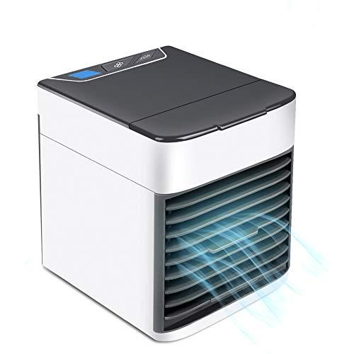 Mini Luftkühler, Neu 2019 3 in 1 Mobile klimaanlage, Klimaanlage Luftkühler Air Cooler, Luftbefeuchter und Luftreiniger, Super wind speed Tragbare Klimaanlage Luftkühler für Büro, Hotel, Küche