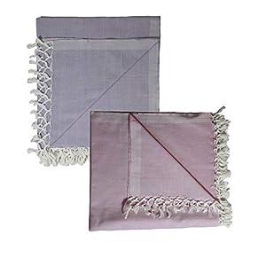 Riyashree Organic Cotton Silky Soft Bhagalpuri Dull chadar lite Blanket & Duvet ( 52*94 in ) Combo Pack of 2 CoDull 08…
