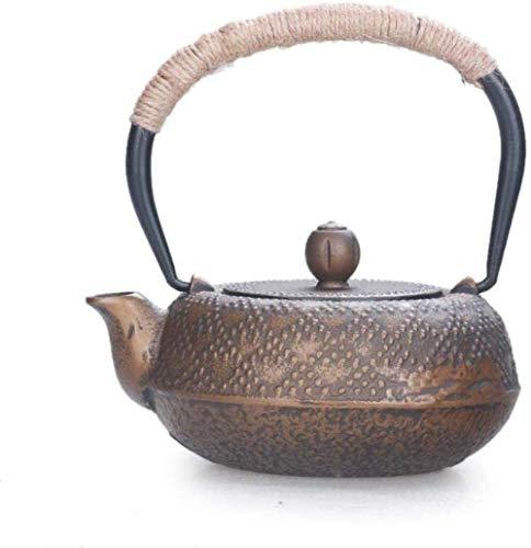 Juegos de té Teteras Tetera de hierro fundido Teteras Teteras Tetera de hierro Olla de hierro fundido Olla de hierro fundido Tetera hecha a mano Juego de té Tetera Pequeño tigre Angular Dorado Hierro
