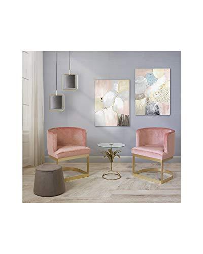 Conjunto de Dos sillones Rosas con Mesa
