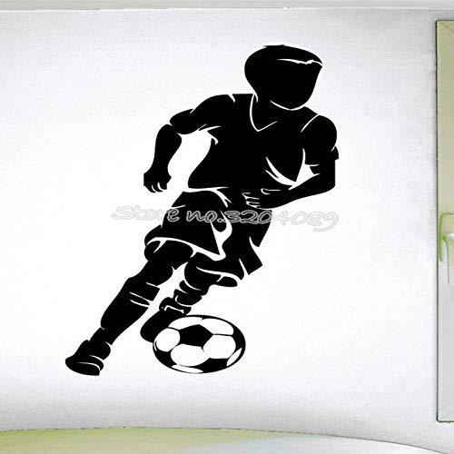QINDONG Etiqueta de la Pared de la Pared Fútbol Star Wall Room Sala de Estar decoración Creativa extraíble Palo (63x117cm)