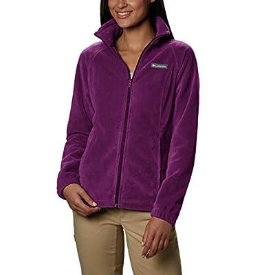 Columbia Women's Plus Size Benton Springs Full Zip Jacket, Soft Fleece with Classic Fit, Dark Raspberry, 3X