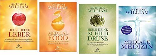 Geschenkidee 4 Bände der Medialen Medizin von Anthony William 1. Heile Deine Leber & 2. Medical Food & 3. Heile Deine Schilddrüse & 4. Mediale Medizin