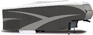 """ADCO 34858 Designer Series Gray/White 40' 1"""" - 43' 6"""" DuPont Tyvek Fifth Wheel Trailer Cover"""