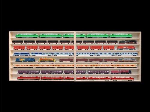 Alsino 1,80 m 8Fach HO Vitrine für Märklin, Regal mit Nuten für Spur H0 2E42ALR