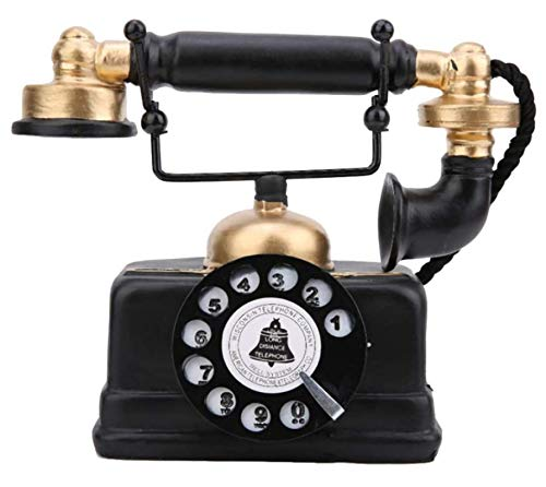 HJQL Adorno De Escritorio, Teléfono con Cable Antiguo Retro Vintage, Adorno De Decoración De Teléfono De Escritorio En Casa para Oficina En Casa