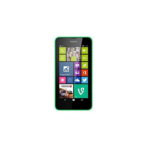 Nokia A00018491 Lumia 630 Smartphone (11,4 cm (4,5 Zoll) Bildschirm, 5 Megapixel Kamera, 8GB Speicher, Android) grün