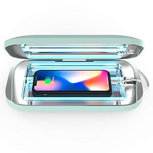 PhoneSoap Pro UV Smartphone Sanitizer & Universal Charger | Patented & Clinically Proven 360 Degree UV Light Disinfector | (Mint)