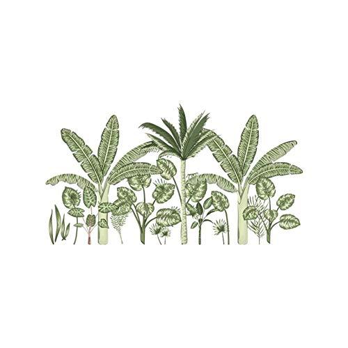 AnnQing Tropical Plants Wandaufkleber für Wohnzimmer Schlafzimmer Sofa TV Hintergründe Wandtattoos Abnehmbare Kunstwandbilder Wohnkultur 52x95cm