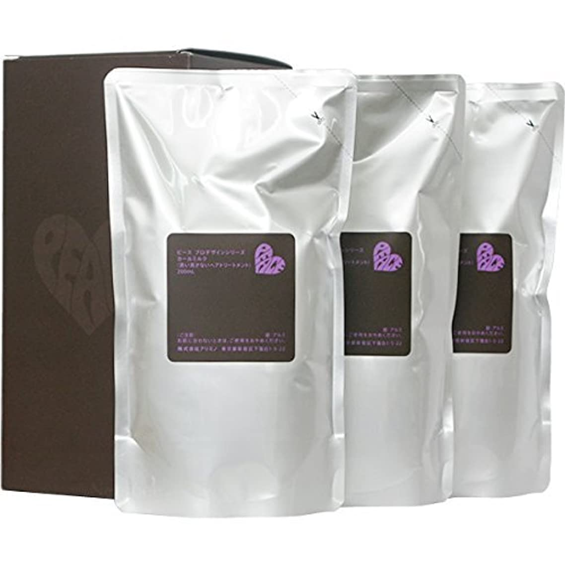 シャンプー氏ドループピース プロデザインシリーズ カールミルク チョコ リフィル 200ml×3