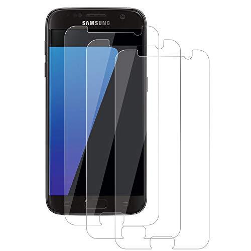 Panzerglas Schutzfolie kompatibel mit Samsung Galaxy S7 [3 Stück], 9H Härte, Anti-Kratzen, Anti-Fingerabdruck, Anti-Öl, HD Displayschutzfolie, Blasenfrei, Panzerglasfolie für Samsung Galaxy S7