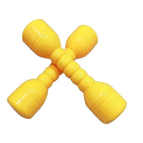 Isuper Kurzhantel Hantel Hantelbank für Kinder, Kunststoff Ausübung und Fitness für Kinder juquete eduvativo für Kinder (2pcs/Gelb)