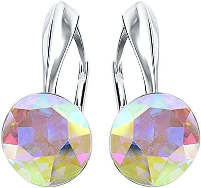 BEFORYA PARIS – * Crystal AB* argento 925 * Donne * – Orecchini con cristalli magici – Bellissimi orecchini da donna – Meravigliosi orecchini con scatola portagioie