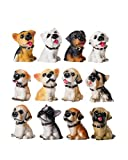 Homerry, 12 statuette per cuccioli di cane, in resina, decorazioni per la casa dell'Hollhouse, giocattoli per Natale, regalo di compleanno