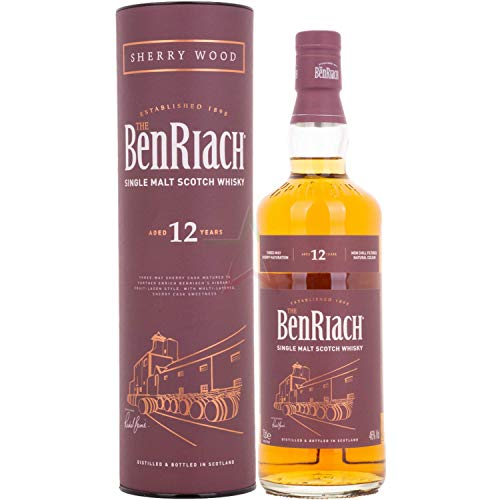 The BenRiach 12 Years Old Sherry Wood Matured 46,00% 0,70 Liter