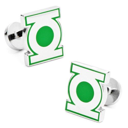 DC Comics Oficiales Logo Gemelos Chapado Plata Linterna Verde en la Caja de presentación - Green Lantern