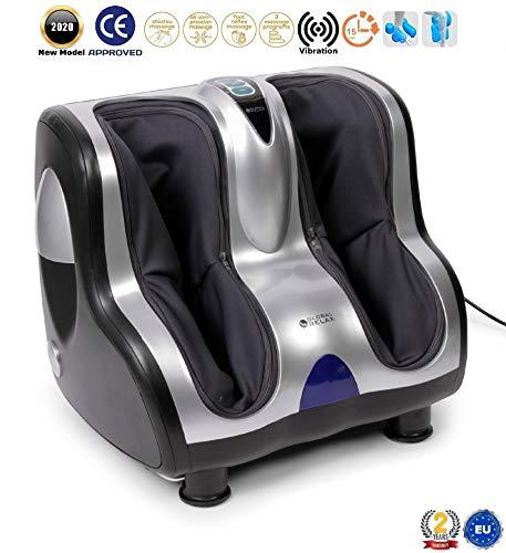 VITALZEN® Voet- en beenmassageapparaat (nieuw model 2020) - Machine met 3 massagesystemen: vibrotherapie, reflexologie en shiatsu-druktherapie-massage - 2 jaar garantie