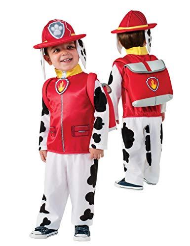Patrulla Canina - Disfraz de Marshall para nios, infantil S (3-4 aos) Rubies 700514-S