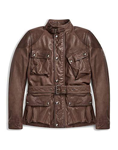 Belstaff Speedmaster Jacket Matte Brown Burnished Leather-52