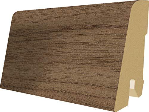 EGGER Home Sockelleiste braun L185 Fußleiste | Bodenleiste 2,4m passt zu EHL028 Nussbaum Colorado