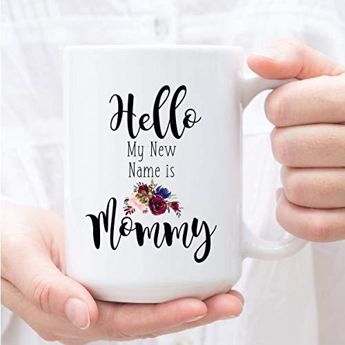 N\A Regalo para futuras mamás Hola mi Nuevo Nombre es mamá Taza de café Revelación del bebé para Nuevas Madres