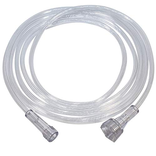 Westmed #0008 7' Kink Resistant Oxygen Supply Tubing with Threaded Nut - Case of 50