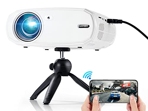 """VIMGO 5G WiFi Projector, 9800LUX Native 1080P Projector, 220"""" Display Video Projector w Tripod,..."""