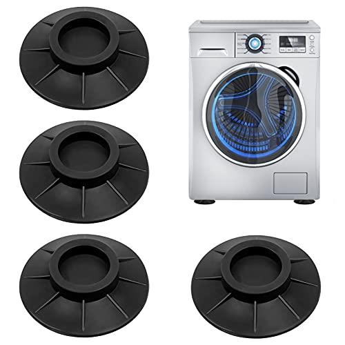 Amortisseurs lave linge,Tapis Anti-Vibration pour Machine à laver,Pieds Anti-dérapants Lave-Linge,Coussinets Pied de Machine à Laver Anti Vibration,Tampons À Pied Machine À Laver (4)