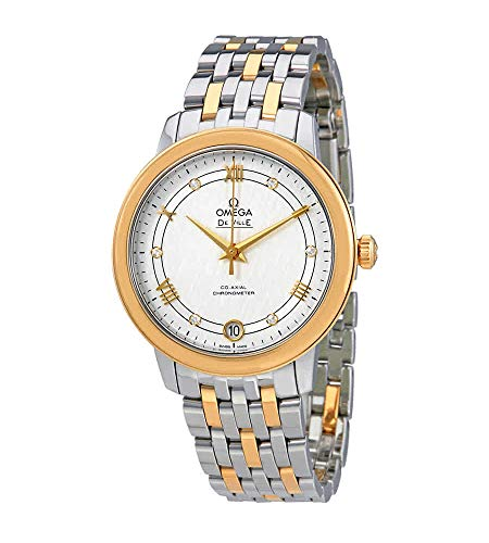 Omega De Ville Prestige Co-Axial Silver Diamond Dial señoras reloj 424.20.33.20.52.001