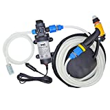 12V 80W Portable Self-Priming Water Pump Kit, High Pressure Washer with Car Charger
