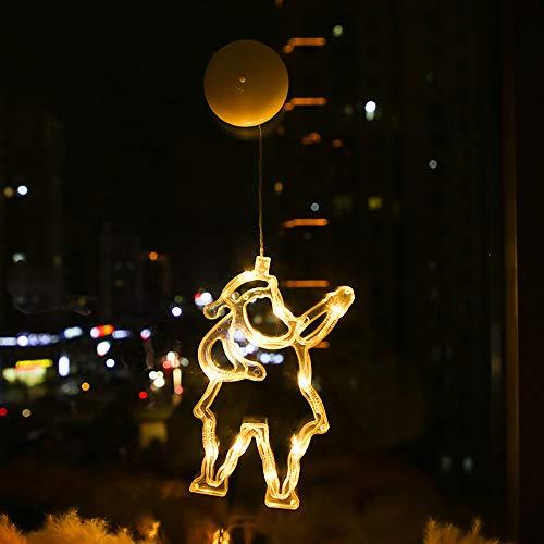 ZXING Luces de Navidad-Luces Led de Navidad Campanas de Navidad Luces de Sucker-Habitación Ventana Elk Decoración Luces-Copo de Nieve Sucker Luces-Decoración de Dormitorio para Niños