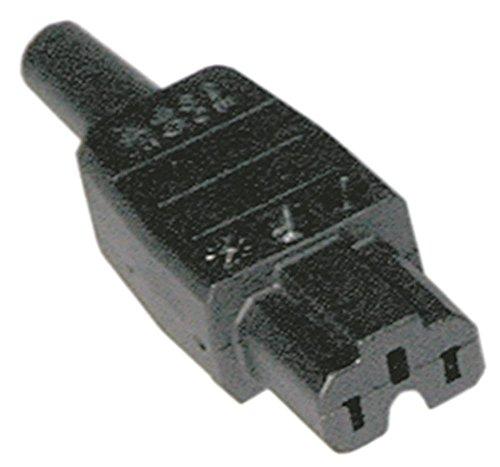 Stekkerdoos met schroefaansluiting recht thermoplast 10 A/250 V C15A T155 C15A max 10 A/250 V T155 schroefaansluiting