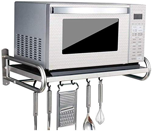 Pkfinrd Mikrowelle Regal, Mikrowellenherd-Wandhalterung Küche Mikrowelle Ofen Rack-Regal-Edelstahl-Material Durable Leichtgewichtler schönes Aussehen (Größe: 53 * 38 * 18cm) (Size : 58 * 38 * 18cm)