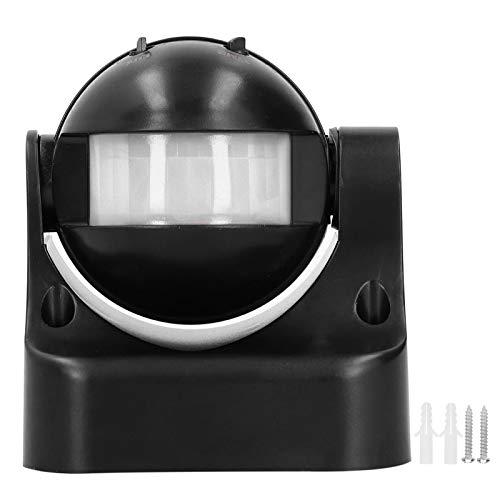 Interruptor de luz con sensor de movimiento, interruptor de luz con detector de movimiento interno PIR automático, práctico para pasillos, pasillos, baños, garajes, sótanos