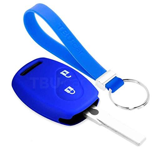 TBU car Funda Carcasa Llave Compatible con Honda - Funda de Silicona - Cover de Llave Coche - Azul