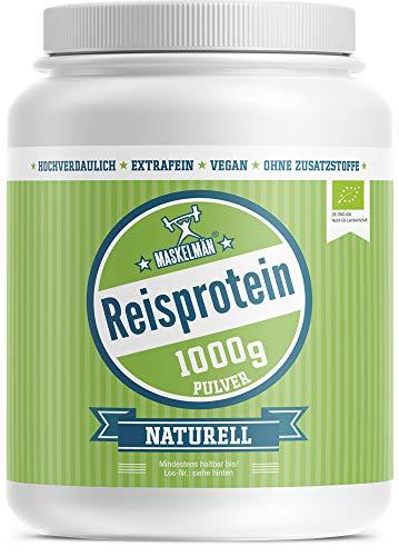 Bio Reisprotein (1000g) | Eiweißpulver | Veganes Protein Pulver | Ideal für Fitness und Muskelaufbau | 83% Protein | Ideal für Low Carb, Paleo und Keto