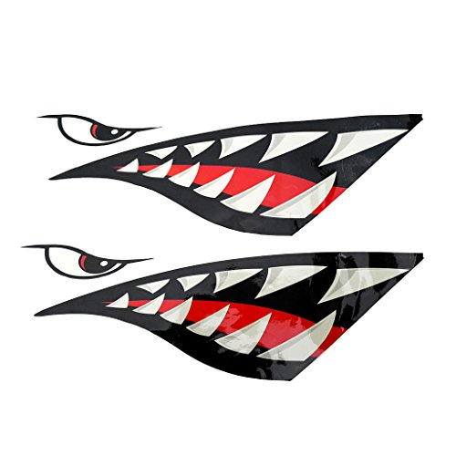 Sharplace 2 Piezas de Pegatinas de Kayak Barco Calcomanías Divertidas A Prueba de Agua Forma de Tiburón