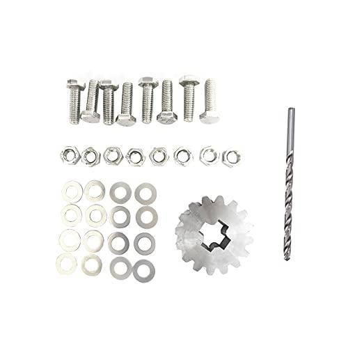 OUZHOU Juego de tornillos de reparación de rueda de repuesto de coche Juego de llaves de repuesto de aleación de aluminio de repuesto de repuesto de rueda de repuesto para Ford Galaxy para Sharan