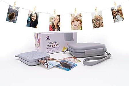 HP Sprocket 200, Impresora Fotográfica Portátil (Tecnología de Impresión Zink, Bluetooth, 5 x 7.6 cm Impresiones), Bluetooth, 20 x 10 x 15 cm, Blanco