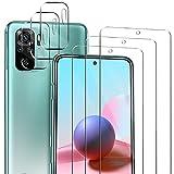 ivencase Xiaomi Redmi Note 10 4G / Xiaomi Redmi Note 10S 6.43' Protector de Pantalla, 3 Pack Cristal Templado y 3 Pack Protector de Lente de cámara