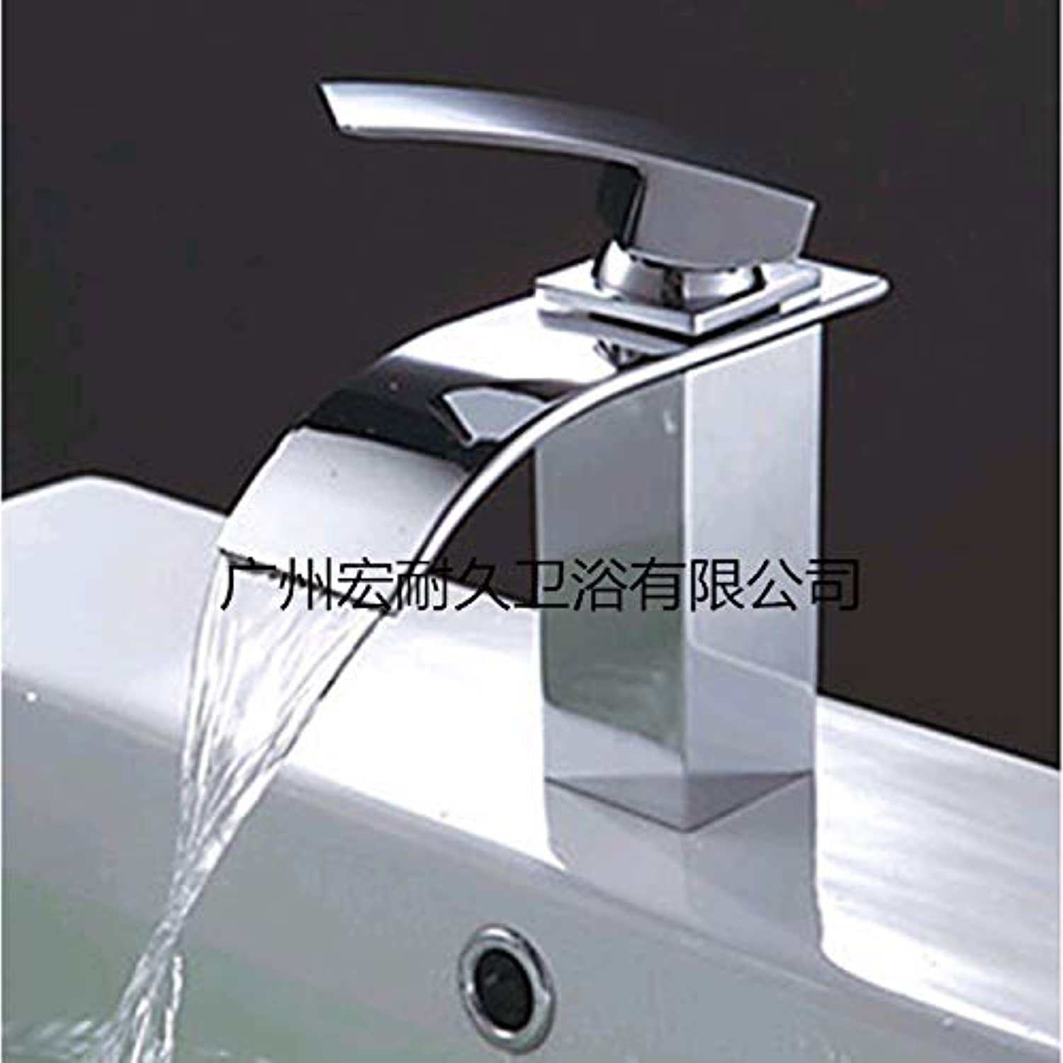 redOOY Diy???Bathroom Sink Taps Taps Faucet Hot and Cold Faucet Copper Waterfall Washbasin Basin Faucet Bathroom Cabinet Faucet Single Hole Hot and Cold Faucet