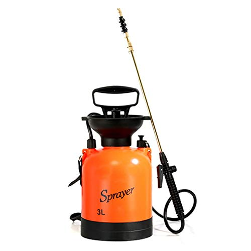 Dedeka Pulverizador a presión con Bomba 3 / 5L para césped y jardín, para herbicidas, Fertilizantes, soluciones de Limpieza Suave y lejía, Incluye Correa para el Hombro
