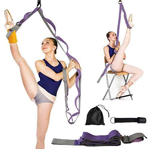 Beser Lee - Estirador de piernas flexible para mejorar el estiramiento de las piernas, entrenamiento de ballet, yoga, pilates, flexibilidad, más seguridad, perfecto para el hogar, equipo portátil, danza, gimnasia, ejercicio, taekwondo, Púrpura