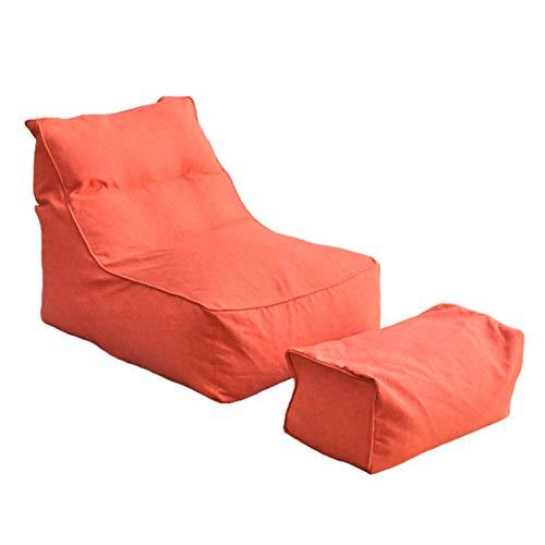 AGVER Große Sitzsackhülle, Faul Sofa Sitzsackhülle Fußschemelabdeckung Ohne Füllung, Mit Extra Langem Reißverschluss Und Leichtem Tragegriff