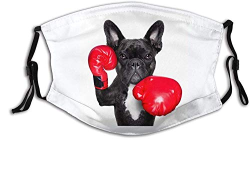 French Bulldog Boxer Face Mask Cloth Washable Reusable Protective Face Cover