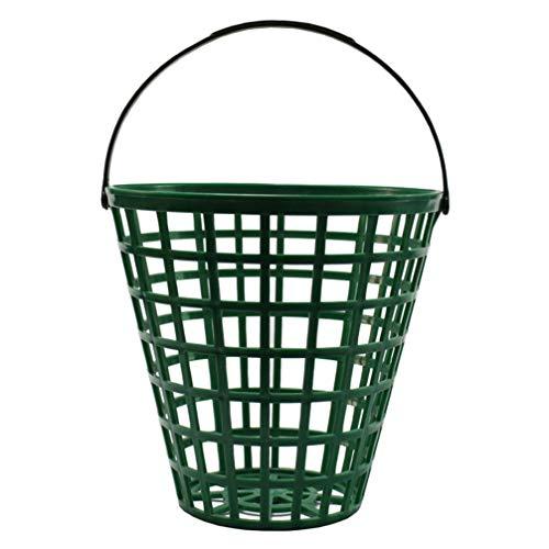 BESPORTBLE Golfballkorb Golfballbehälter mit Griffballhalter Grün