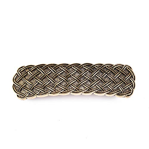 LIKGREAT Vintage Irish Celtic Knot Hairpin Simplifeid Style Infinite Metal Barrettes for Women (Antiqued Gold)