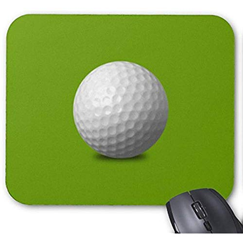 QDAS Golfball-Vektor-Ikonen-Grafik-Grün-Weiß-Sport-Mausunterlage