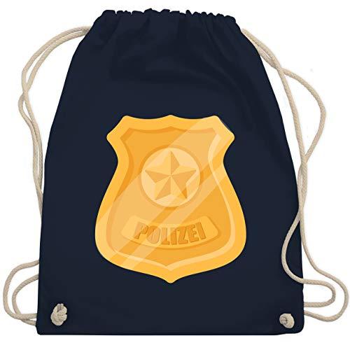 Shirtracer Karneval & Fasching - Polizei Marke Karneval Kostüm - Unisize - Navy Blau - turnbeutel polizei fasching - WM110 - Turnbeutel und Stoffbeutel aus Baumwolle