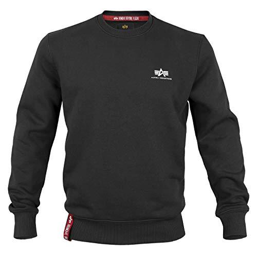 Alpha Ind. Basic Sweater Small Logo schwarz - M